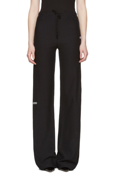 Vetements - Black Champion Edition Loose Lounge Pants