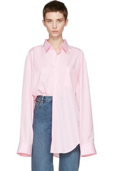 Vetements - Pink Comme des Garçons Edition Oversized 80's Shirt
