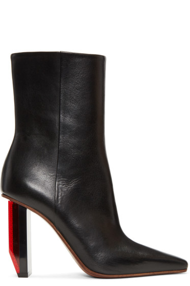 Vetements - Black & Red Reflector Heel Boots