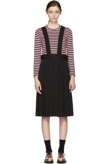 Comme des Garçons Girl - Black Wool Suspender Dress