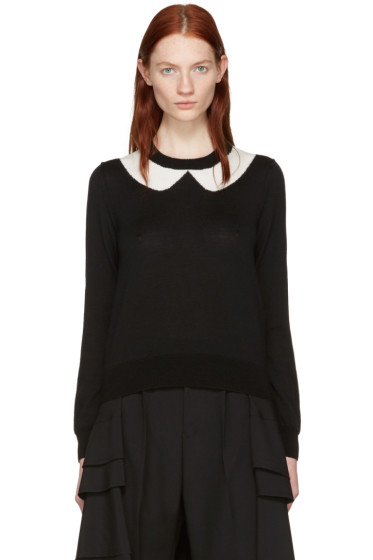 Comme des Garçons Girl - Black Intarsia Collar Sweater