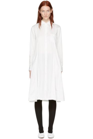 Comme des Garçons Comme des Garçons - White Cotton Shirt Dress