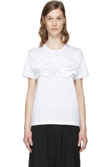 Comme des Garçons Comme des Garçons - White Ruffle T-Shirt