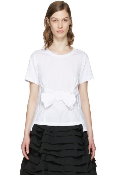 Comme des Garçons Comme des Garçons - White Bow T-Shirt