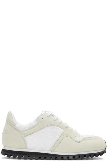 Comme des Garçons Comme des Garçons - White Spalwart Edition Sequin Sneakers