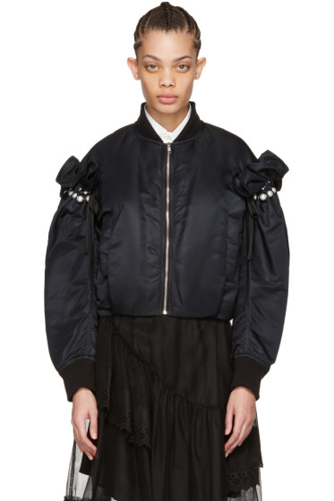 Noir Kei Ninomiya - Black Pearl Bomber Jacket