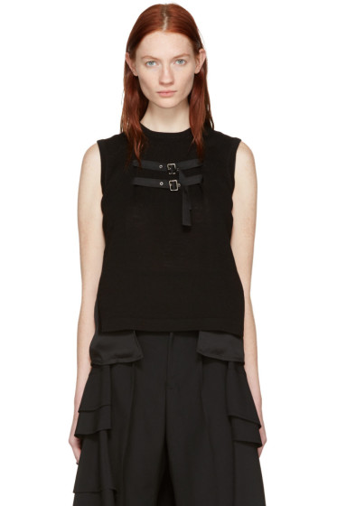 Noir Kei Ninomiya - Black Layered Tank Top