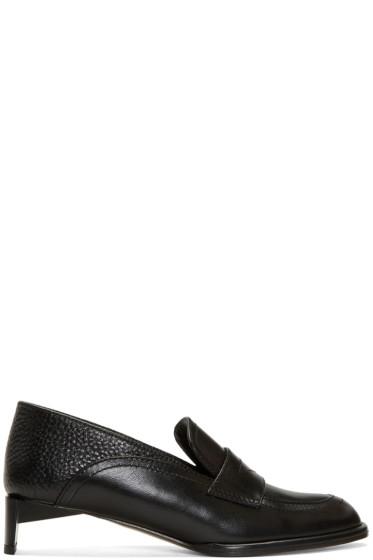 Loewe - Black Low Heeled Moccasins