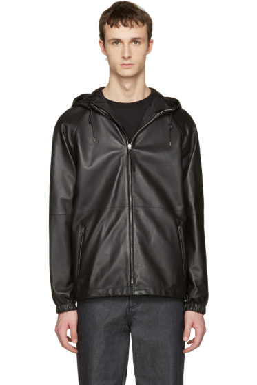 Loewe - Reversible Black Lambskin Hooded Jacket