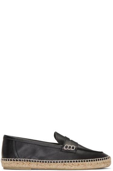 Loewe - Black Espadrille Loafers