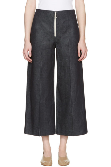 Harmony - Indigo Denim Pina Zip Trousers