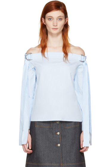 Harmony - Blue Tara Off-the-Shoulder Blouse
