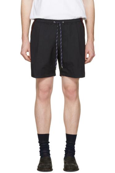 Toga Virilis - Black Taffeta Shorts