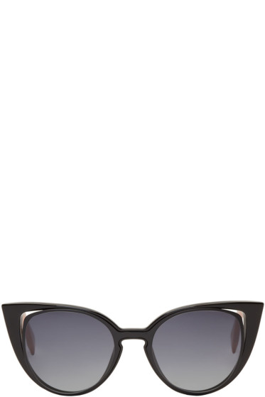 Fendi - Black Cut-Out Cat-Eye Sunglasses