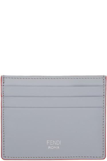 Fendi - Grey & Brown Card Holder