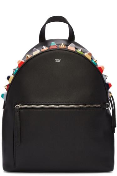 Fendi - Black Studded Rainbow Backpack