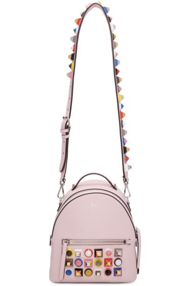 Fendi - Pink Mini Studded Rainbow Messenger Backpack