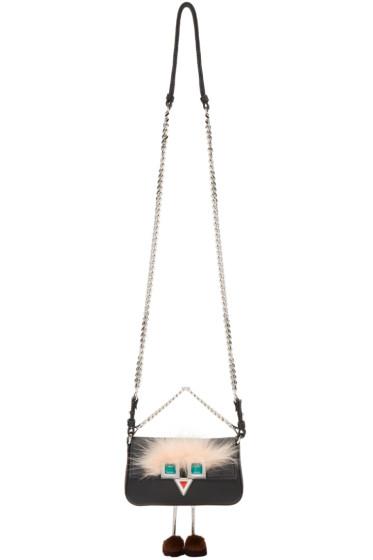 Fendi - Black Eyes Micro Baguette Bag