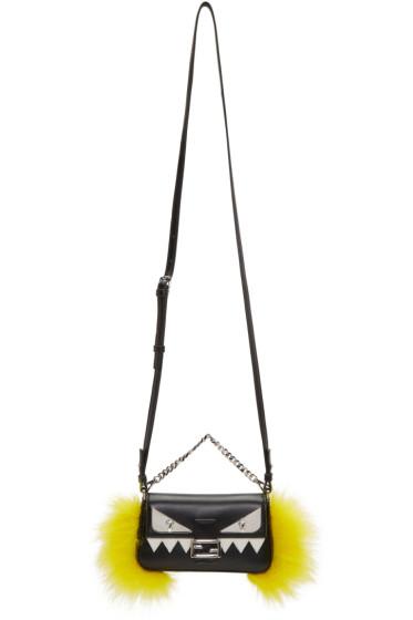 Fendi - Black Micro Baguette Bag