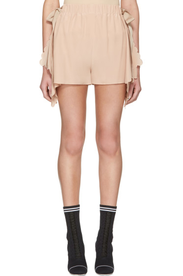 Fendi - Pink Scalloped Shorts
