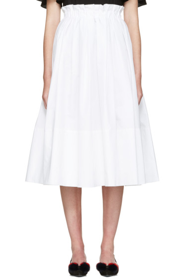Fendi - White Poplin Skirt