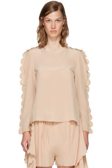 Fendi - Pink Scalloped Edge Blouse