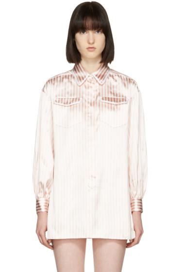 Fendi - Pink & White Pyjama Shirt Set