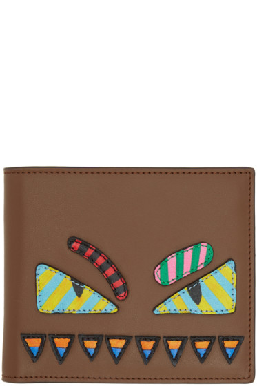 Fendi - Brown 'Bag Bugs' Wallet