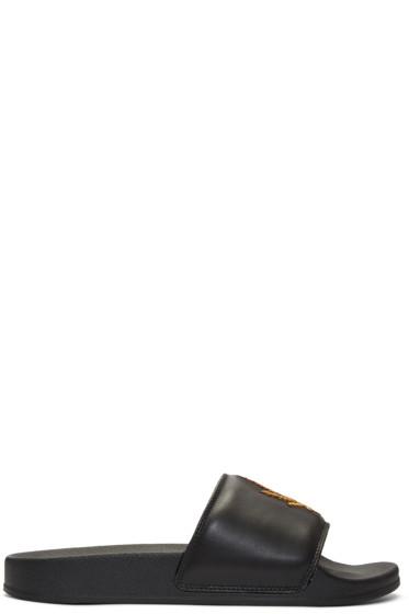 Palm Angels - Black Weed Pool Slider Sandals