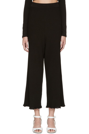 Rosetta Getty - Black Ribbed Trousers