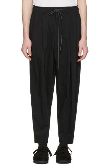 Attachment - Black Drawstring Trousers
