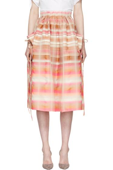 Brock Collection - Pink & Beige Stella Skirt