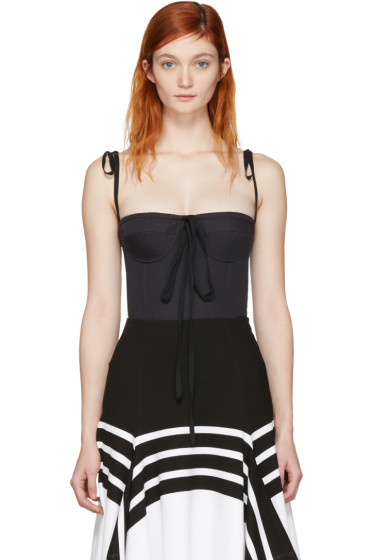 Brock Collection - Black Tabitha Bustier Top
