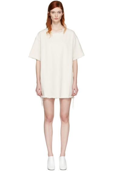 Marques Almeida - Off-White Denim T-Shirt Dress