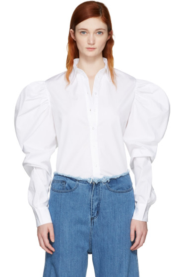 Marques Almeida - White Puff Sleeve Shirt
