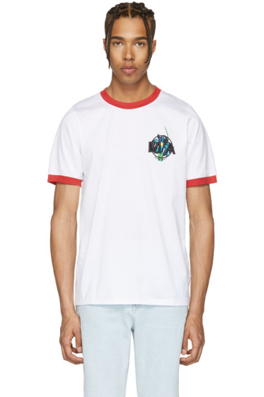 Marques Almeida - White Embroidered Loose T-Shirt