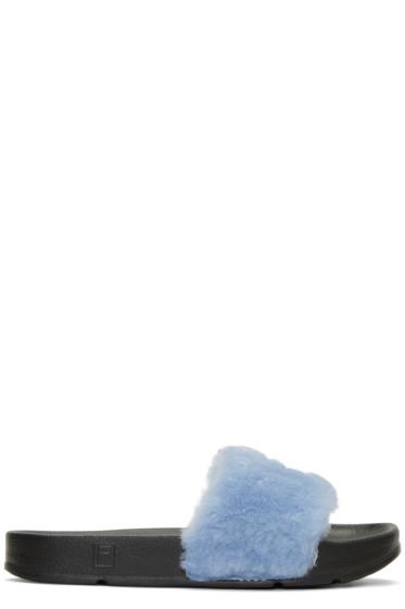 Baja East - Blue Fila Edition Drifter Sandals
