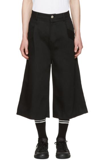 Baja East - Black Denim Shorts