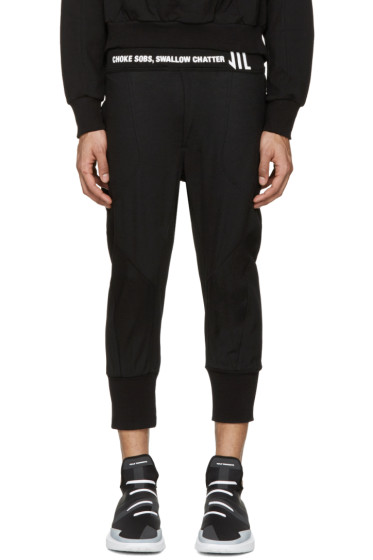 NILøS - Black Cropped Logo Lounge Pants