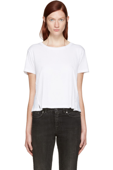Amo - White Twist Cut-Out T-Shirt