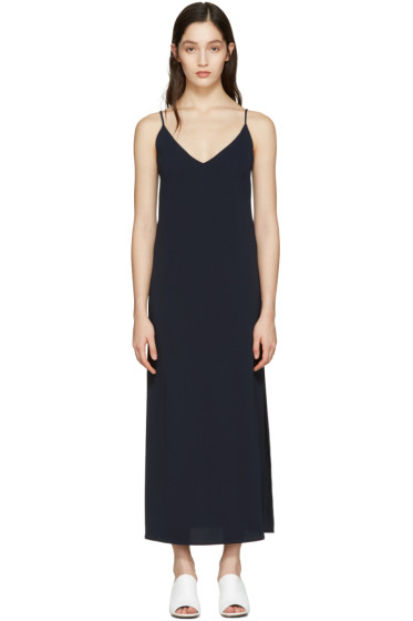 Atea Oceanie - Navy Long Slip Dress