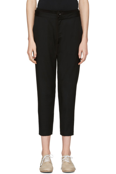 Y's - Black Double Waistband Trousers