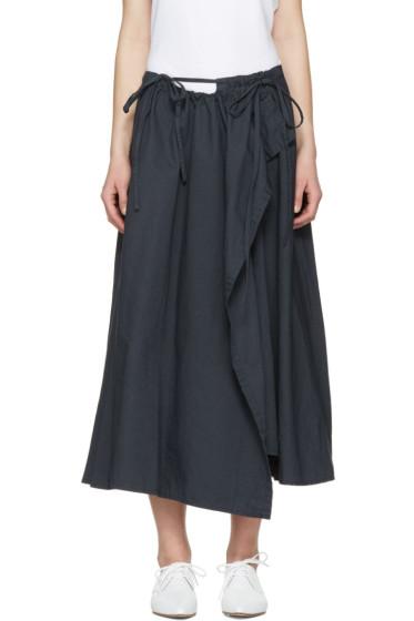 Y's - Navy Wrap Skirt