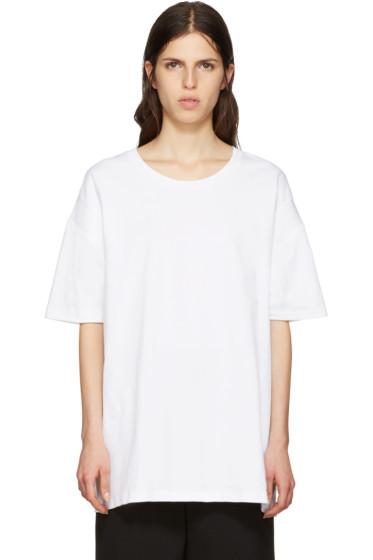Y's - White All Needles Big T-Shirt