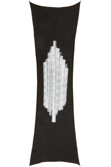 Isabel Benenato - ブラック ハンド ペイント スカーフ