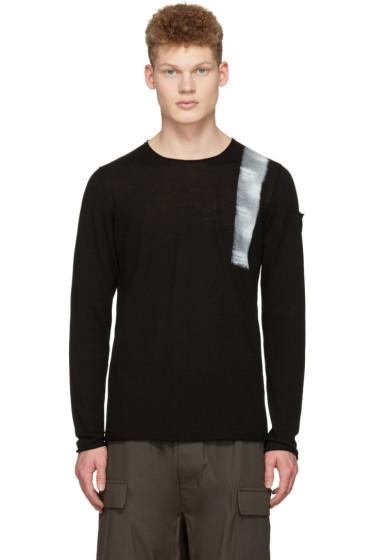 Isabel Benenato - Black Hand Painted Sweater