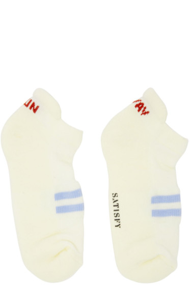 Satisfy - Off-White 'Run Away' Patchwork Low Socks