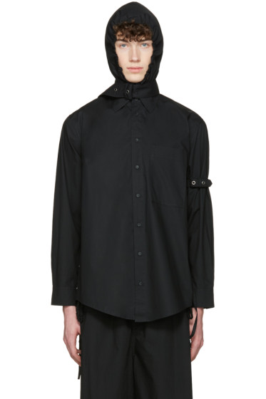Craig Green - Black Cotton Hooded Shirt
