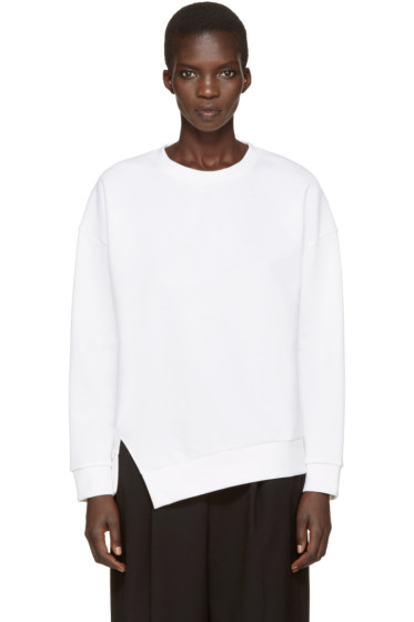 Enfold - White Twisted Sweatshirt