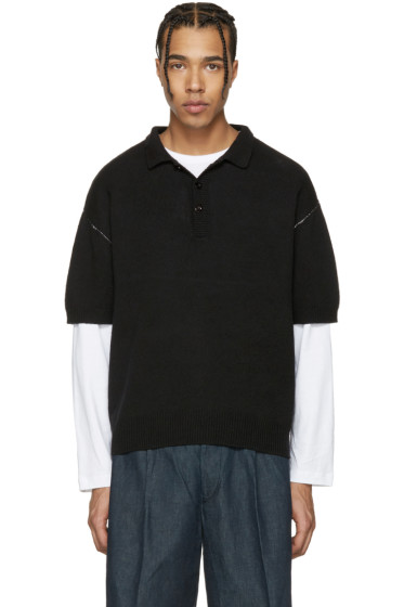Tomorrowland - Black Contrast Stitch Polo